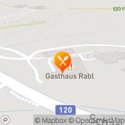 Karte Gasthaus Rabl Gschwandt, Österreich