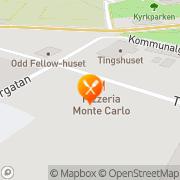 Karta Pizzeria & Restaurang Monte Carlo Ludvika, Sverige