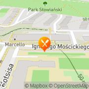 Mapa Pizzeria O.K. Gorzów Wielkopolski, Polska