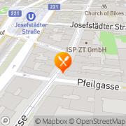 Karte Blindengassen Beisl Wien, Österreich