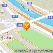 Karte Gasthaus zum Knusperhäuschen Wien, Österreich