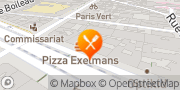 Carte de PIZZA EXELMANS Paris, France