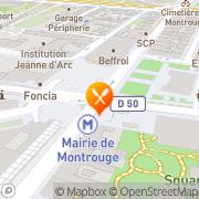 Carte de CADBURY FRANCE Montrouge, France