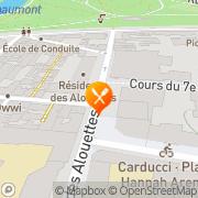 Carte de Roussel Stores S.A. Paris, France