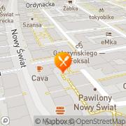 Mapa La Fiesta Tortilla Restaurant Warszawa, Polska