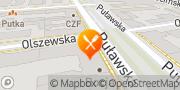 Mapa Pizza Hut Warszawa Puławska Warszawa, Polska