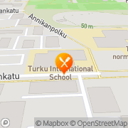 Kartta Varissuon Jäähallin kahvila Turku, Suomi