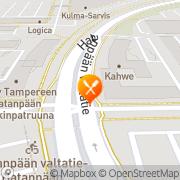 Kartta Oluthuone Ville Tampere, Suomi