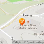 Kartta Finn-Medin ravintola Tampere, Suomi