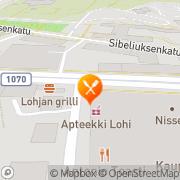 Kartta Ravintola Rosso Lohja, Suomi
