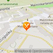 Kartta Olutravintola Malmgård Helsinki, Suomi