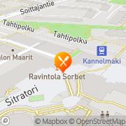 Kartta Ravintola Kannel-Krouvi Helsinki, Suomi
