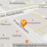 Kartta William K. Tennispalatsi Helsinki, Suomi