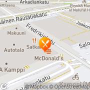 Kartta Koskiravintolat Helsinki, Suomi