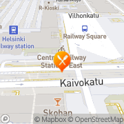 Kartta Hesburger Helsinki Rautatientori Helsinki, Suomi
