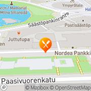 Kartta Ravintola Paasiravintola Helsinki, Suomi