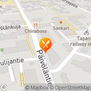 Kartta Tapanilan Starpizza Helsinki, Suomi