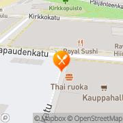 Kartta Lahden Thai-Ruoka Lahti, Suomi