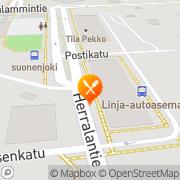 Kartta Pizzeria Tulppaani ky Suonenjoki, Suomi