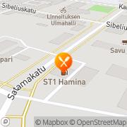 Kartta Lappeen Savu-Kari Oy Hamina, Suomi