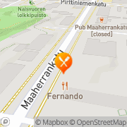 Kartta Ravintola Fernando Mikkeli, Suomi