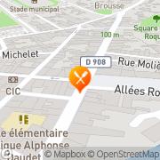 Carte de Chalaguier S.A. Clermont-l'Hérault, France