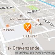 Kaart Witte Eetcafé BV De s-Gravenzande, Nederland