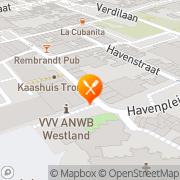 Kaart Garibaldi Pizzeria Naaldwijk, Nederland