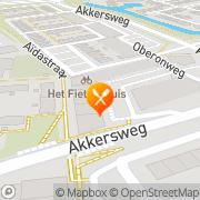 Kaart Planet Pizza Spijkenisse, Nederland