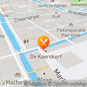 Kaart Voldersvier Delft, Nederland