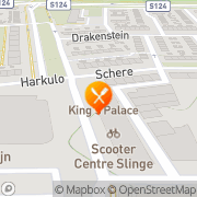 Kaart King's Palace Chinees Restaurant Rotterdam, Nederland
