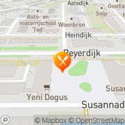 Kaart Jeruzalem Grillroom Rotterdam, Nederland