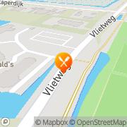 Kaart McDonald's Santpoort-Noord met McDrive Santpoort-Noord, Nederland
