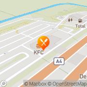 Kaart Kentucky Fried Chicken Hoofddorp, Nederland