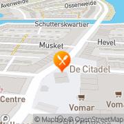 Kaart Citadel Restaurant La Heemskerk, Nederland
