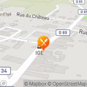 Carte de Roger Lauprêtre S.A.R.L. Igé, France
