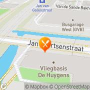 Kaart The Colour Kitchen Amsterdam, Nederland