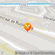 Kaart Jima Eetcafé Amsterdam, Nederland
