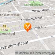 Map Pizzeria La Perla Amsterdam, Netherlands