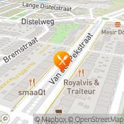 Kaart Mindou Amsterdam, Nederland