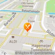 Kaart Foodway Gorinchem, Nederland