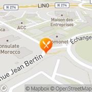 Carte de SA CEGID Dijon, France
