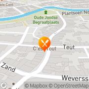 Kaart Dorloté Restaurant Amersfoort, Nederland