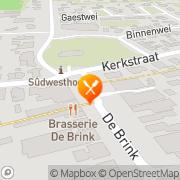Kaart Boschlust Oudemirdum, Nederland