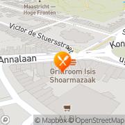 Kaart Isis Grillroom Maastricht, Nederland