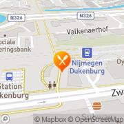 Kaart Burak Pizzeria Bezorg & Afhaalcentrum Nijmegen, Nederland