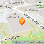 Kaart Grand Café Mahler Arnhem, Nederland