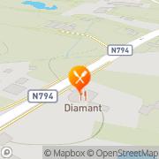 Kaart Diamant Thais-Kantonees Specialiteitenrestaurant Epe, Nederland