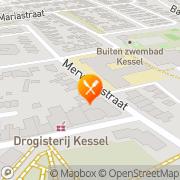 Kaart Restaurant De Ruine Kessel, Nederland