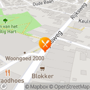 Kaart Restaurant 't Raodhoes Reuver, Nederland